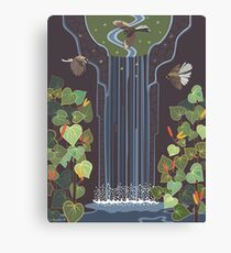 Waterfall and Fantails by Rosie Louise Canvas Print