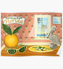 Florida Icons Poster