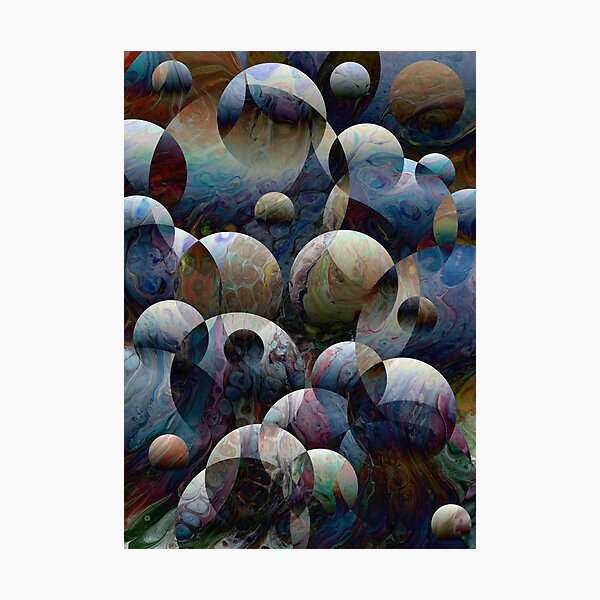 Orbs: round spheres abstract Photographic Print