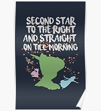Peter Pan Quote Poster