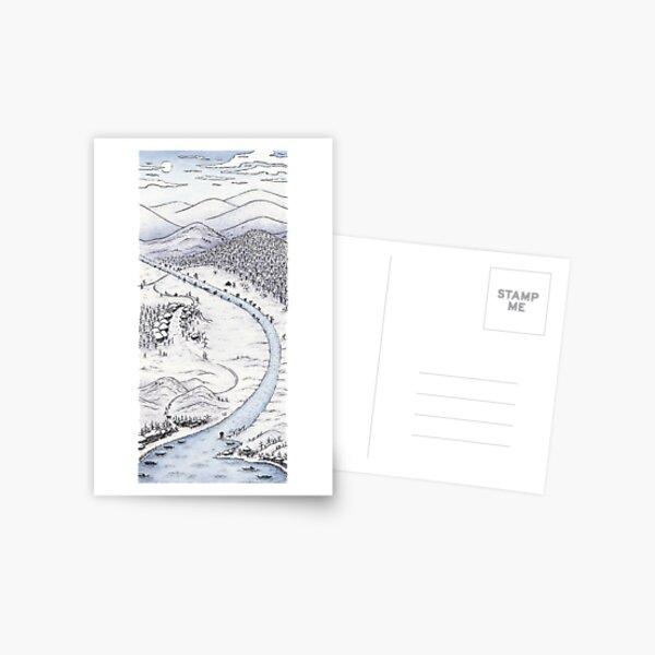 Snowy Day in Japan Postcard