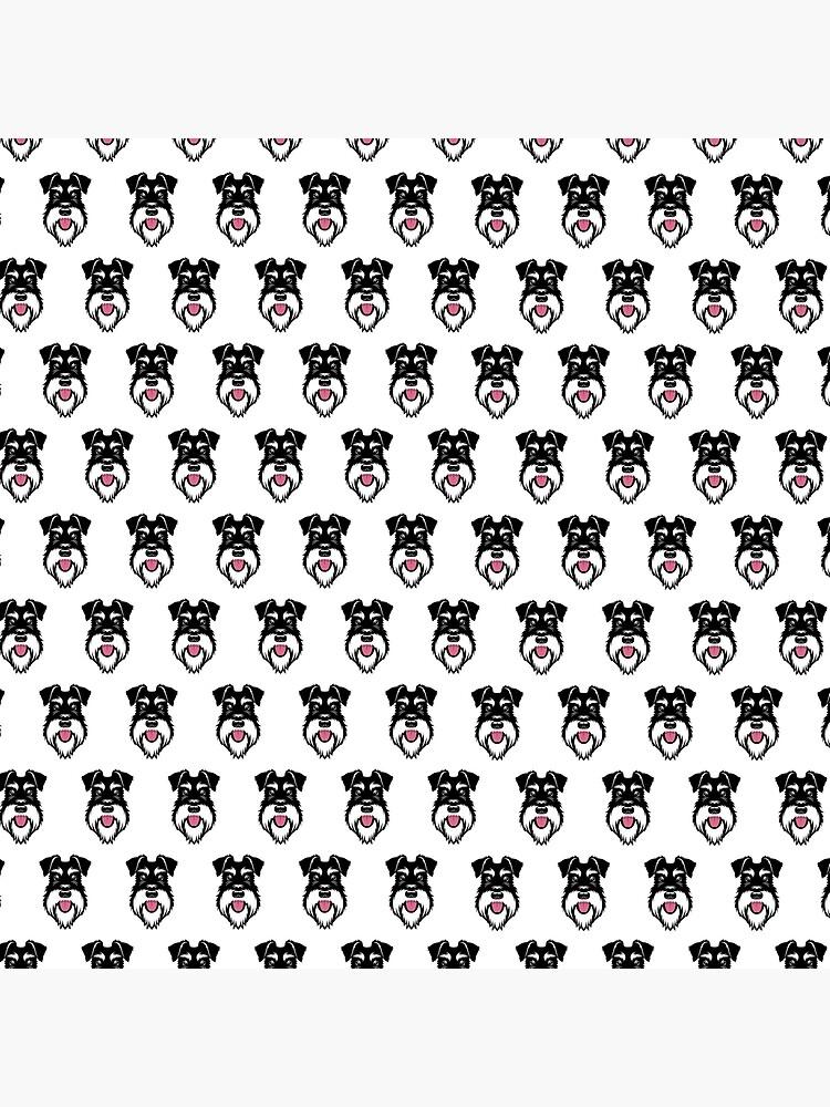 Silver & Black schnauzer repeat pattern by stevewilsonwda