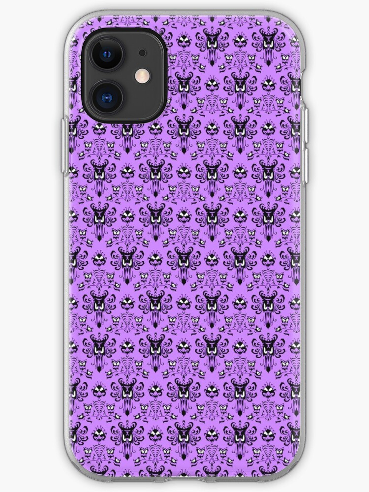 The Haunted Mansion Wallpaper Light Purple Iphone Case Cover By Madradmitchell Redbubble