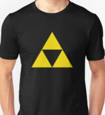 Gold Zelda triforce 3 Unisex T-Shirt