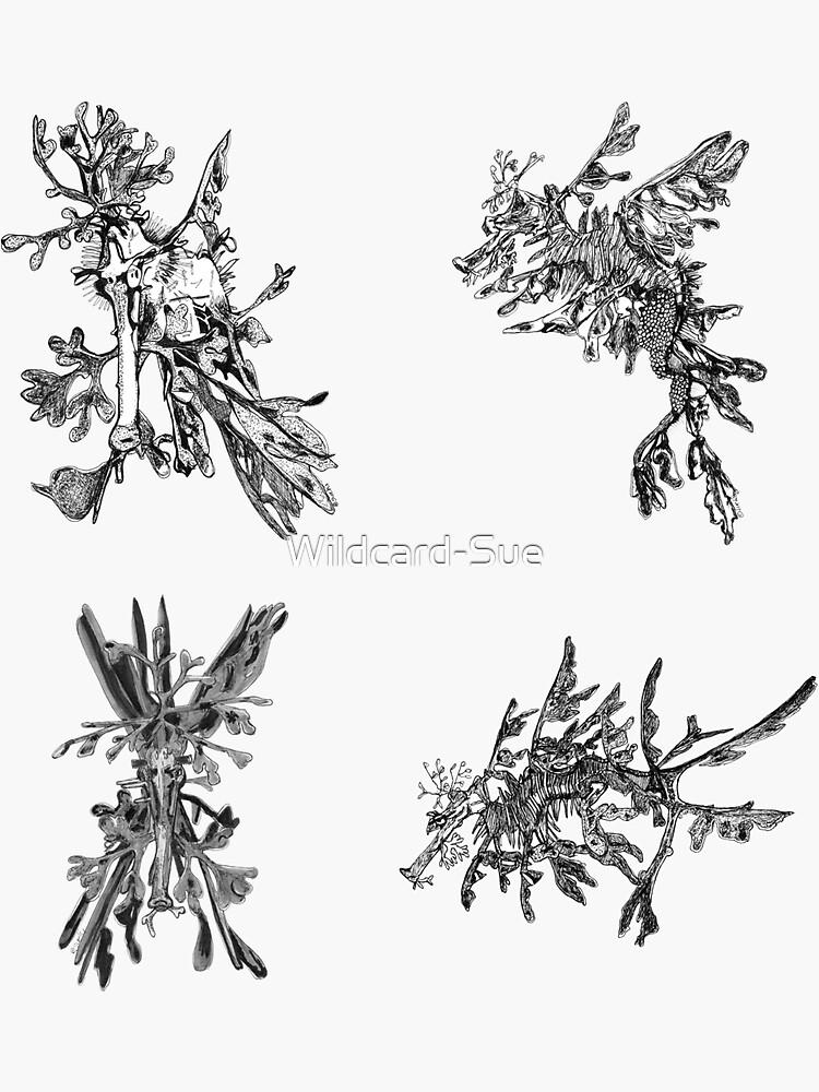 Sea 3 -Leafy Sea Dragons x 4  by Wildcard-Sue