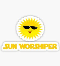 Sun Worshiper - Solar God Helios - PV Renewable Energy T-Shirt Sticker