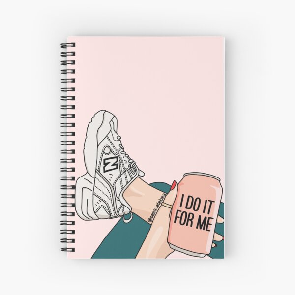 I do it for me by Sasa Elebea Spiral Notebook