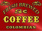 Vintage Style Coffee Sign by thatstickerguy