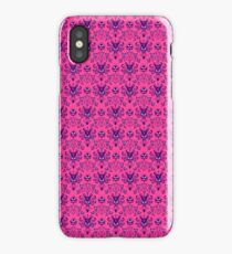 The Haunted Mansion Wallpaper - Pink/Violet iPhone Case