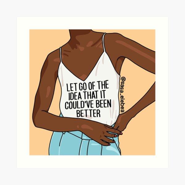 Let go by Sasa Elebea Art Print