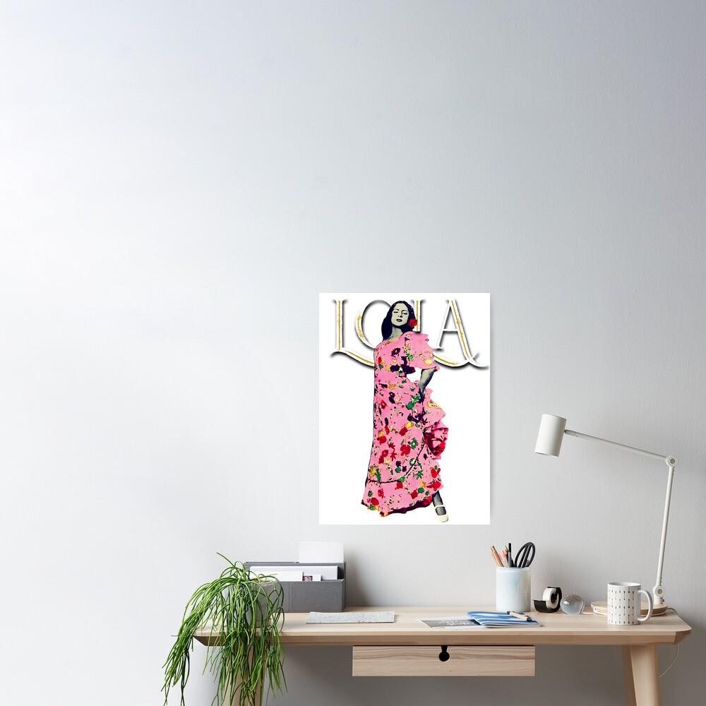 "Lola Flores Diseño ""Lola Embrujo"" Póster"