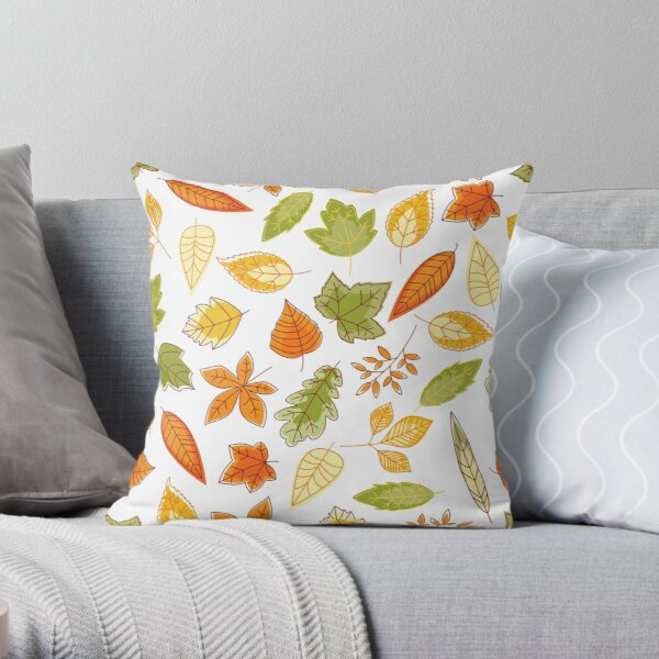 Fall pattern throw pillows