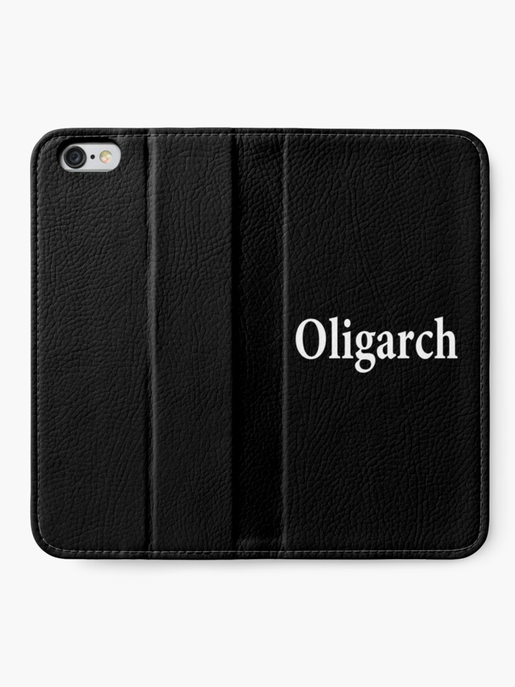 Alternate view of Oligarch - Corruption - Privilege and Control iPhone Wallet