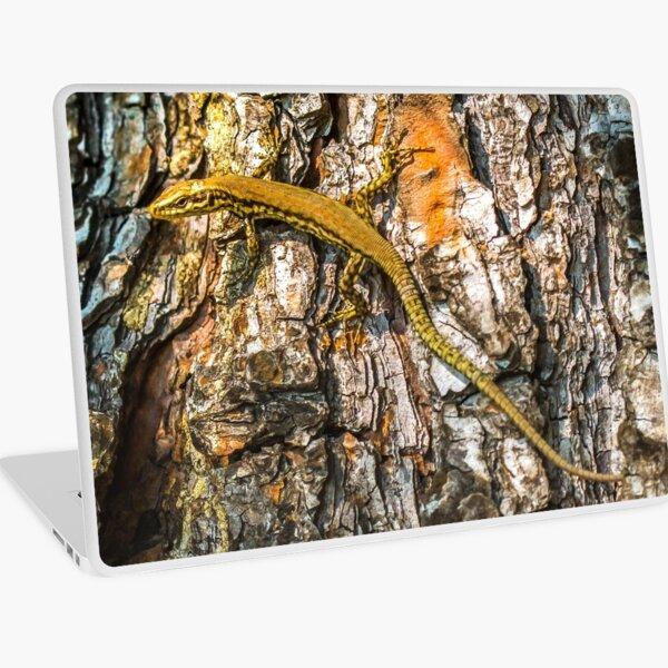 Elegant lizard crawling a tree Laptop Skin