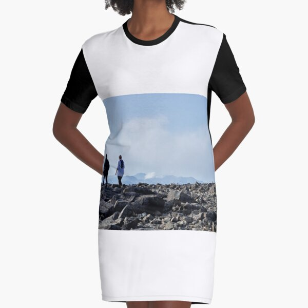 The summit of Ben Nevis Graphic T-Shirt Dress