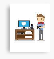 i love video games shirt! (console, pc) Canvas Print
