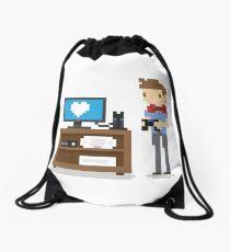 i love video games shirt! (console, pc) Drawstring Bag