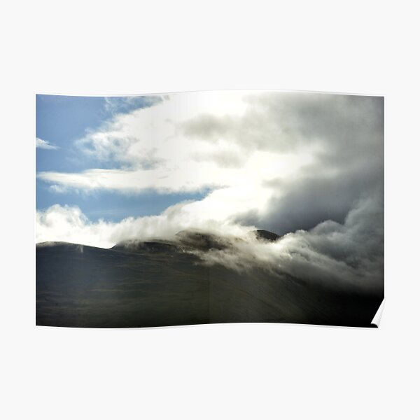 Clouds start to cover the summit of Ben Nevis Poster