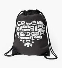 I heart gaming (graphic tees, mugs, and more!) Drawstring Bag