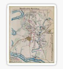 Civil War Maps 0150 Battle of the Antietam Sticker