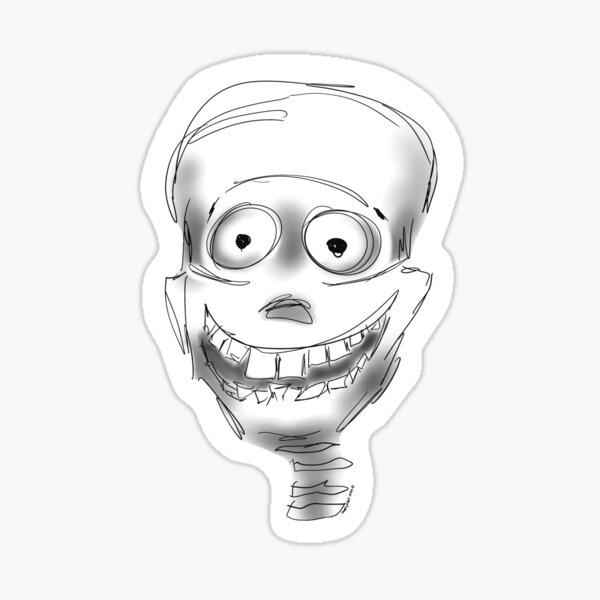 Harry Halloween Skeleton Sticker & Magnet Sticker