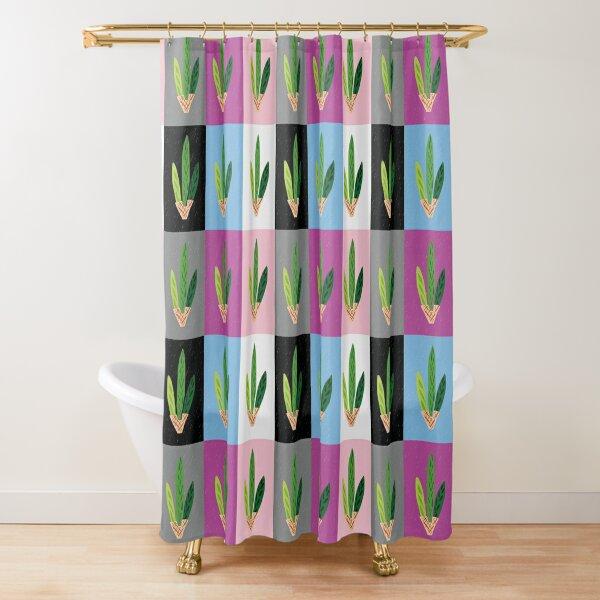 Lulav - Cool Clean Pop Art Grid Shower Curtain