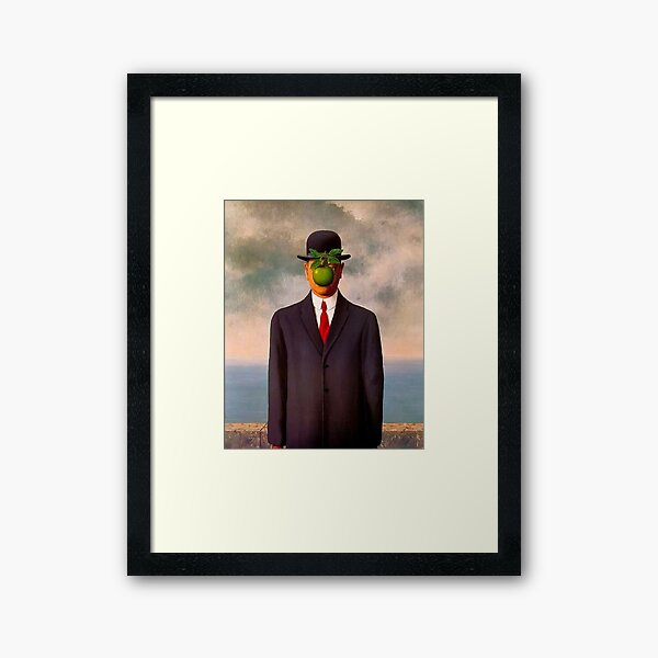 The Son of Man by René Magritte Framed Art Print