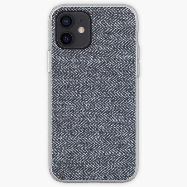 Grey Tweed fabric texture iPhone Soft Case