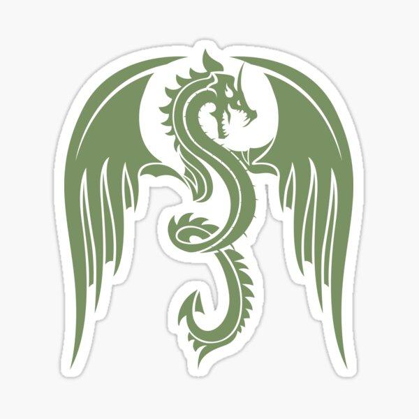 Animaux légendaires Dragon Vintage Green Sticker