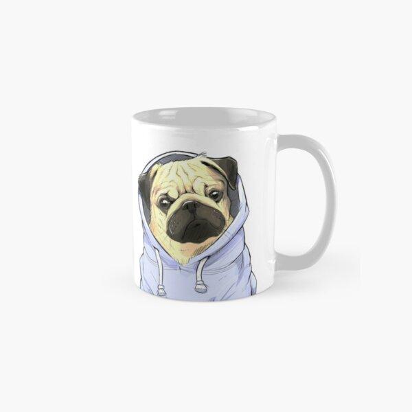 pug blue Mug classique
