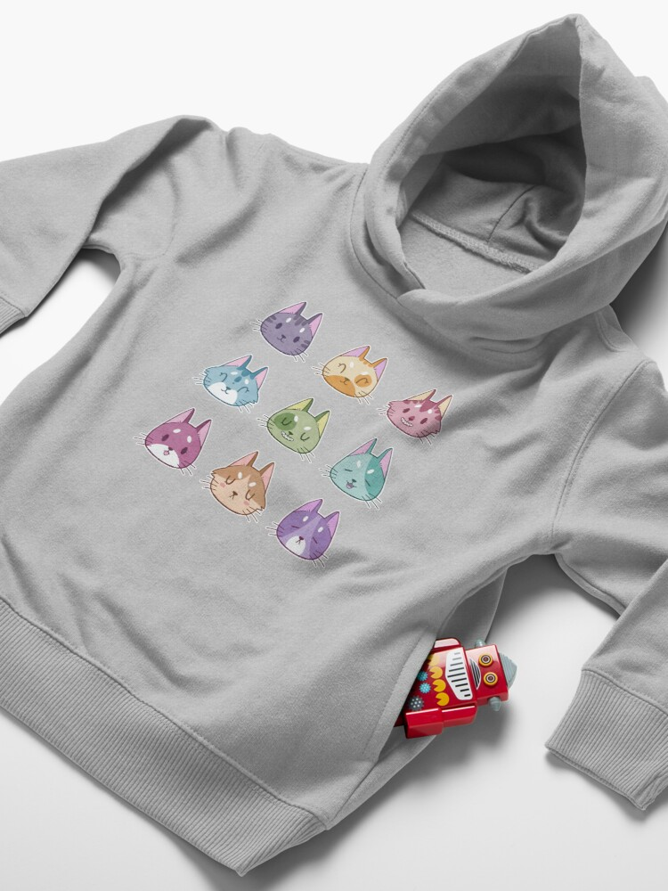 Alternate view of Mood Kittens Toddler Pullover Hoodie
