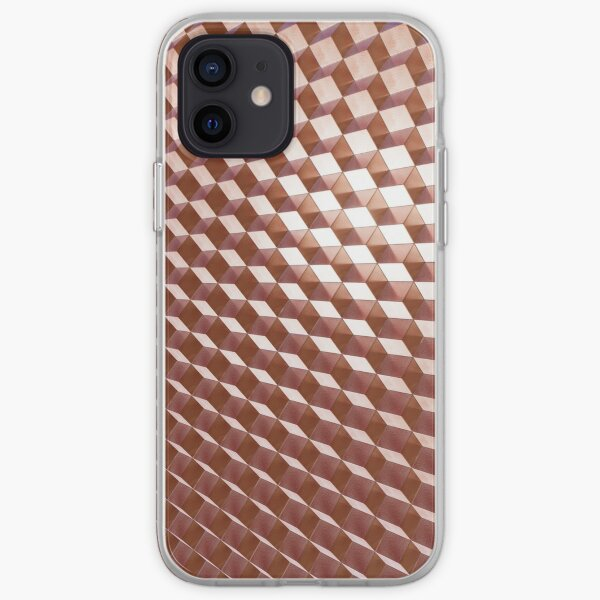 Brownish Rose Gold Geometric Zigzag Abstract Pattern iPhone Soft Case