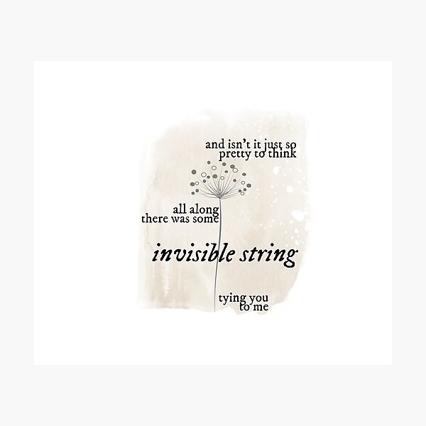 invisible string Photographic Print