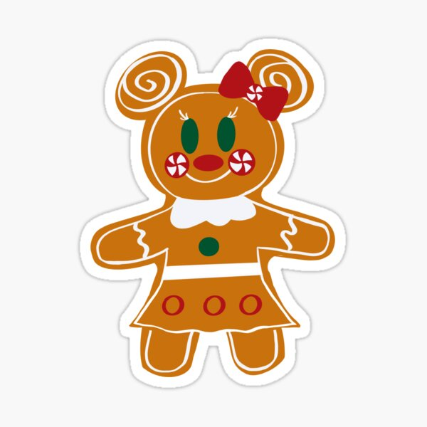 Gingerbread Mouse Girl Sticker