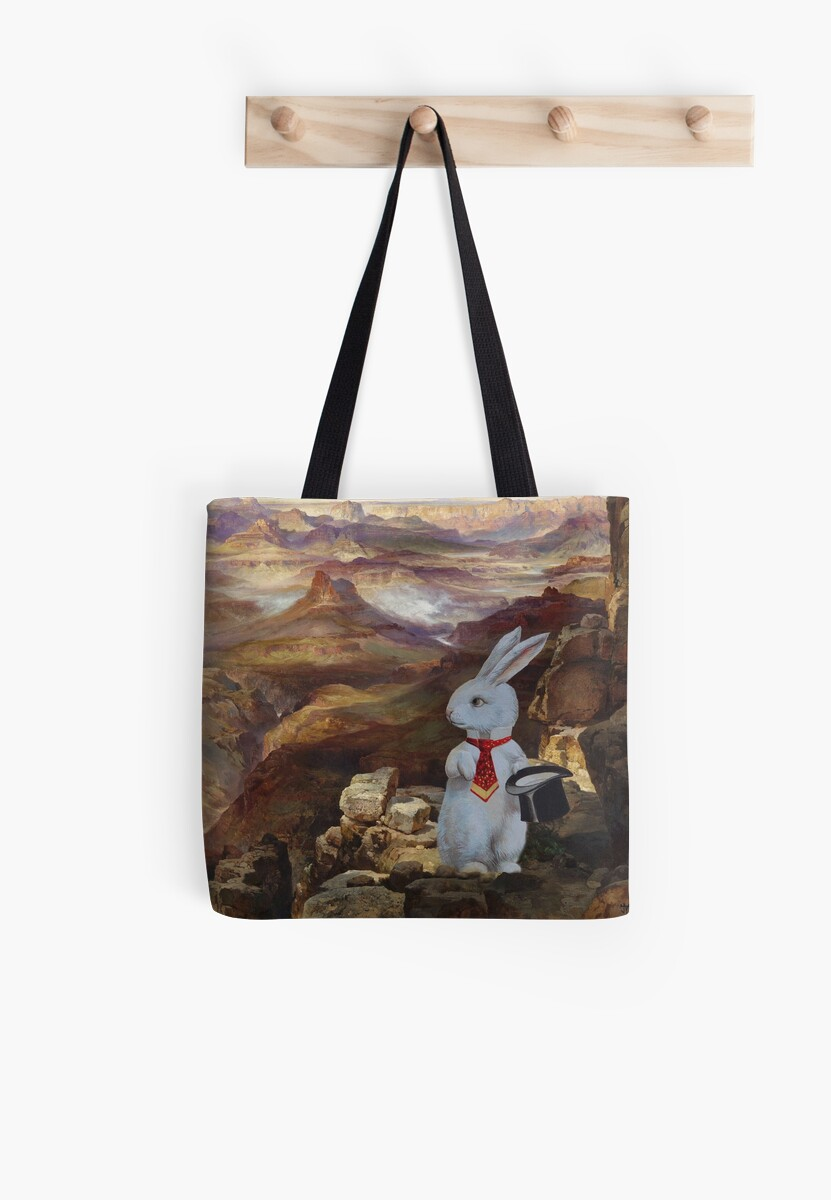White Rabbit Explores the Grand Canyon - Moran Composite by TheCurators