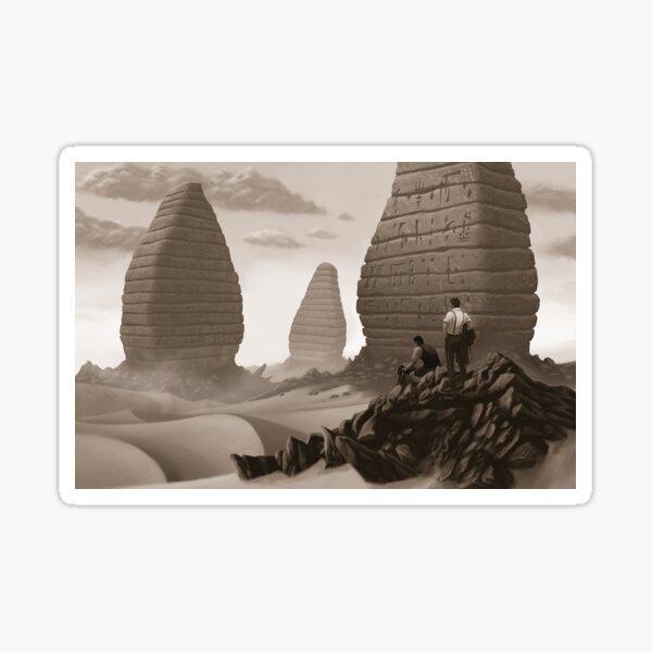 Cthulhuween Day 8 - Buildings of Pnakotus by Lee Simpson Sticker
