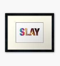 SLAY Framed Print