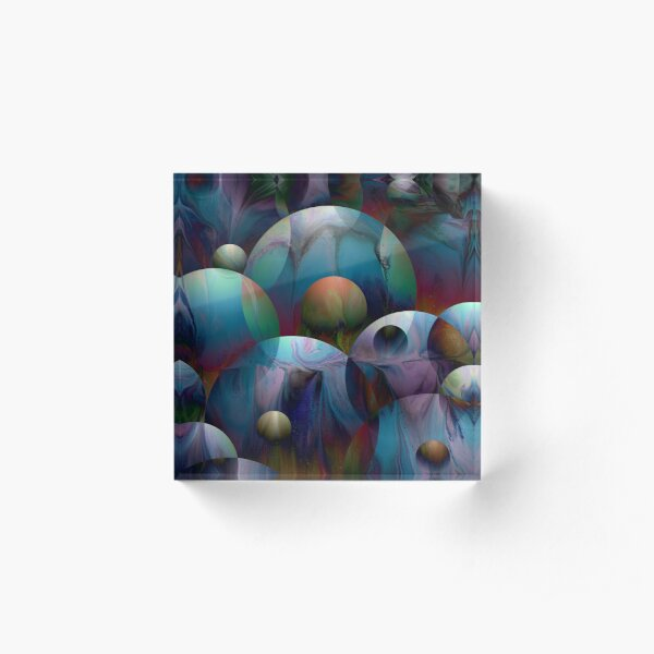 Orbs 2: round spheres abstract Acrylic Block