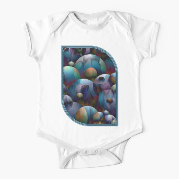Orbs 2: round spheres abstract Short Sleeve Baby One-Piece