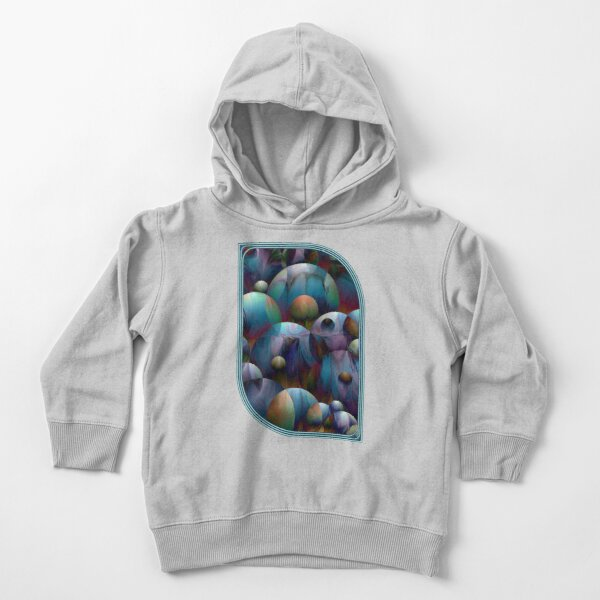 Orbs 2: round spheres abstract Toddler Pullover Hoodie