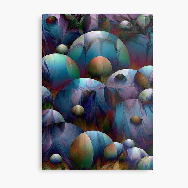 Orbs 2: round spheres abstract Metal Print