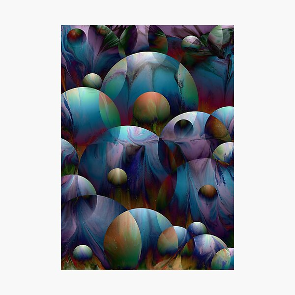 Orbs 2: round spheres abstract Photographic Print