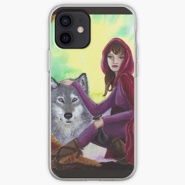 Red and the Wolf iPhone Soft Case