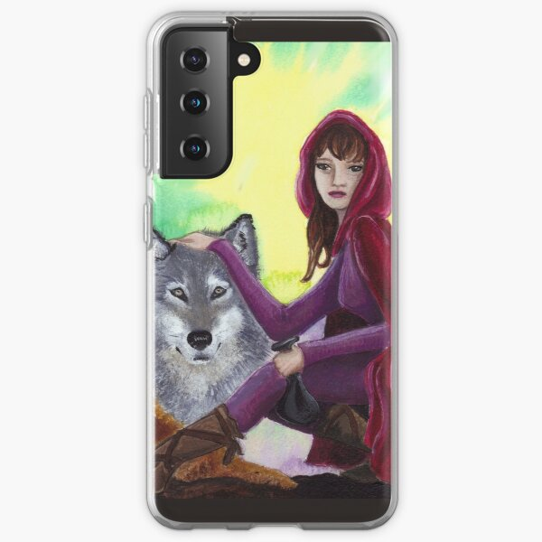 Red and the Wolf Samsung Galaxy Soft Case