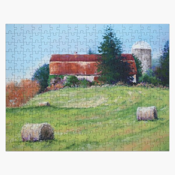 A Day in the Field with Haybales Jigsaw Puzzle Jigsaw Puzzle