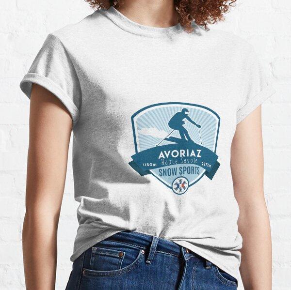 Piste de nouveau-Drôle de Ski Snowboard Sports d/'hiver women/'s girl/'s t-shirt