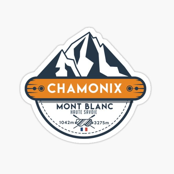 CHAMONIX  MONT BLANC Sticker