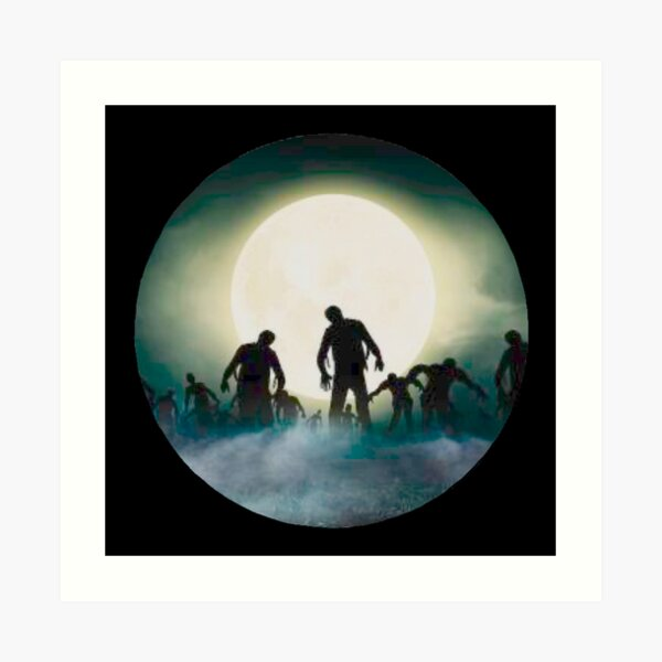 Zombies Night Out  Art Print