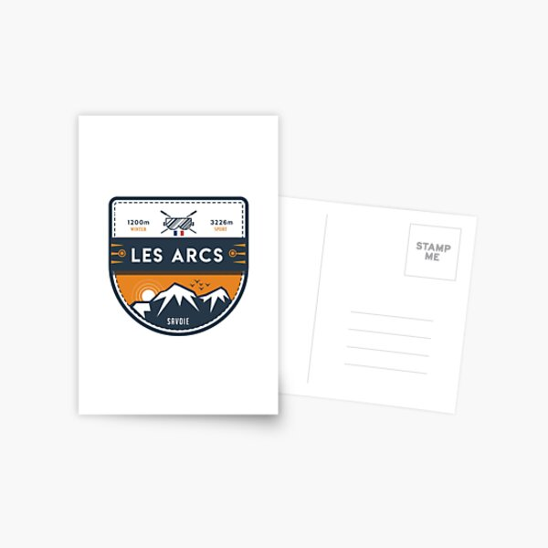 LES ARCS Carte postale