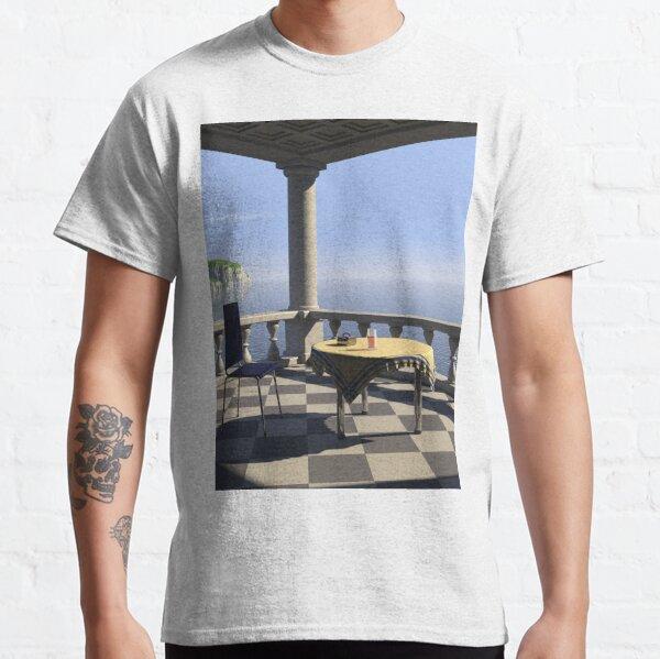 Balcony: POV RAY CGI! Classic T-Shirt